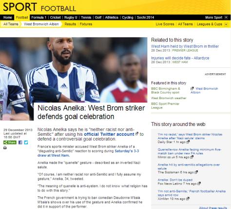 BBC sport Anelka