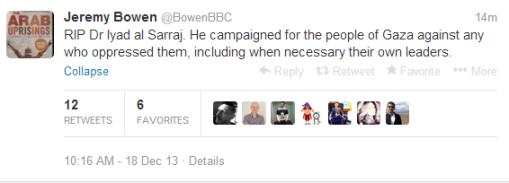 Bowen Sarraj tweet