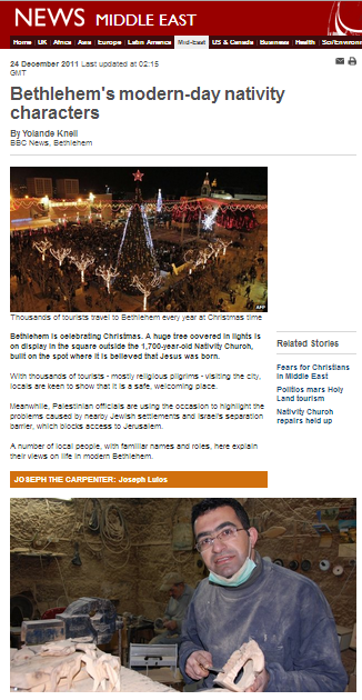 Knell article Bethlehem nativity