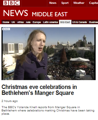 BBC's Knell exploits Christmas report to lie about anti-terrorist fence