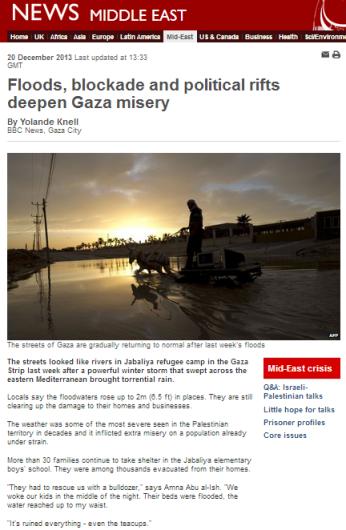 Knell floods Gaza