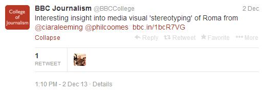 Media Visual Stereotyping CoJ