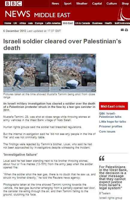 Bulk of a BBC report is a B'Tselem press release