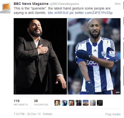 Tweet BBC News magazine Anelka