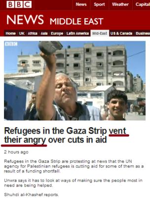 UNRWA cuts filmed report