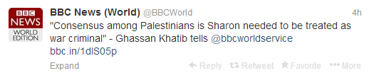BBC News world sharon tweets 1