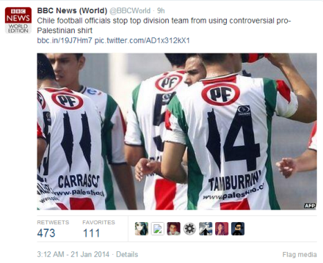 BBC News World tweet football shirt