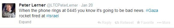Jan 20 tweet rocket fire