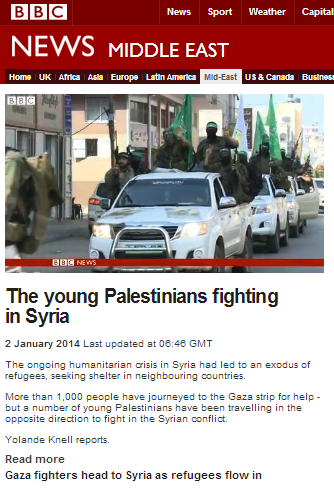 BBC's Knell shoehorns Israel into report on Syria and the Gaza Strip