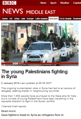 Knell filmed report Gaza Syria