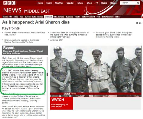 Live page Sharon Bowen comments