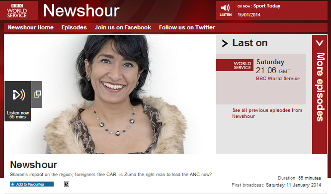 Continuing serious breaches of editorial guidelines in 'Newshour' with Lyse Doucet