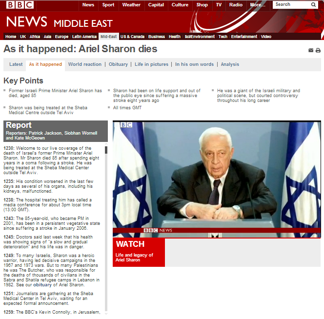 Multiple breaches of editorial guidelines in Sharon report by BBC's Paul Adams