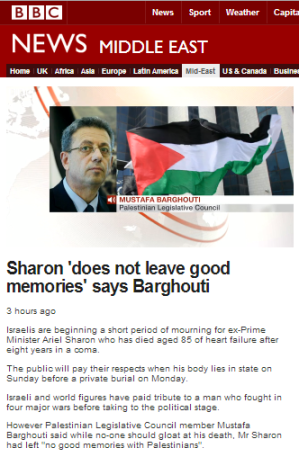 Sharon filmed Barghouti
