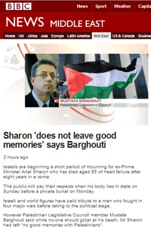 Sharon filmed Barghouti