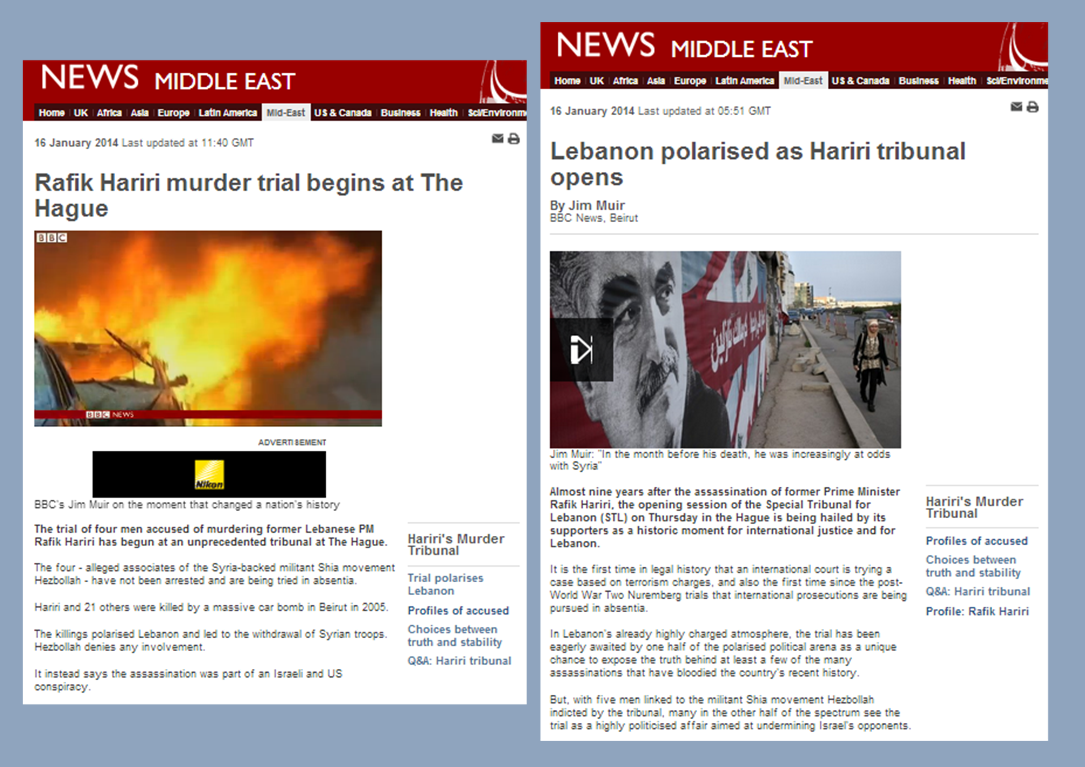 BBC coverage of STL amplifies Hizballah propaganda