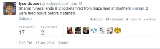 tweet Doucet missiles funeral