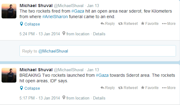 tweets Shuval missiles funeral