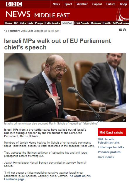 BBC art Schulz Knesset