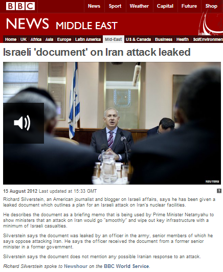 Source of 2012 BBC story on faux Israel 'briefing document' in racist tweet row