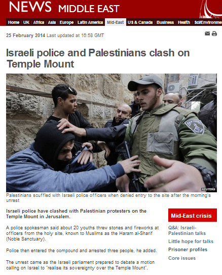 BBC omits vital background information in Temple Mount rioting story