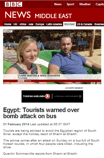 UK tourists Sharm