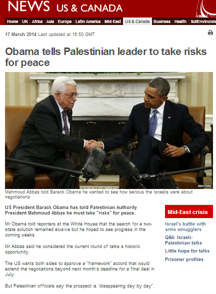 Accuracy and impartiality issues in BBC report on Abbas White House visit