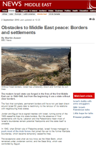 "BBC's ""Obstacles to Peace"": a barrier to understanding Israel's borders"