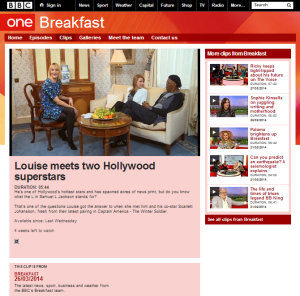BBC One serves up BDS at Breakfast