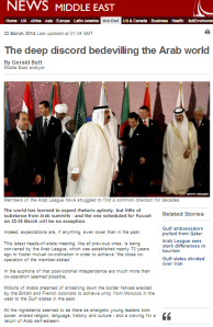 BBC News 'analysis' romanticises the Arab League