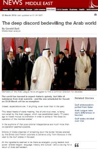 Butt article Arab League