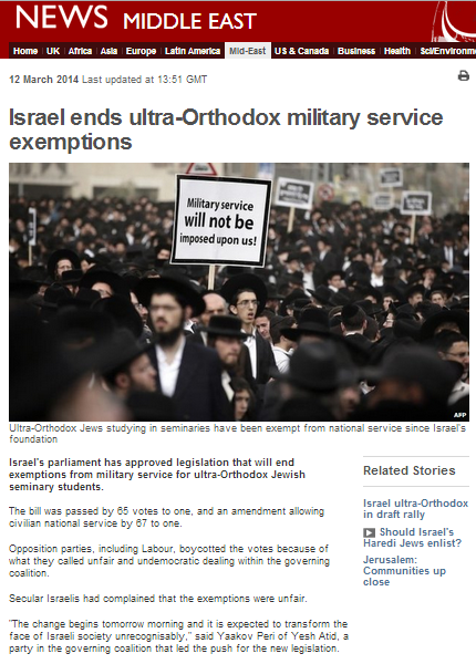 Curiously selective and misleading BBC reporting on domestic Israeli politics
