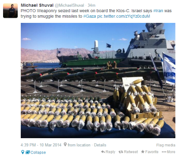 Klos C tweet Shuval