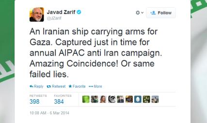 KlosC tweet Zarif