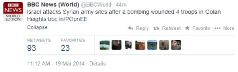 tweet bbc world response