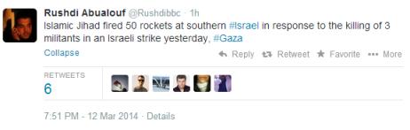 Weds missile attacks Abualouf tweet