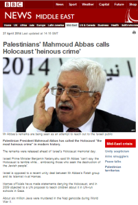 Abbas Holocaust statement