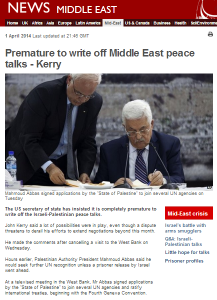 BBC's selective omissions slant audience view of Israel-PLO talks