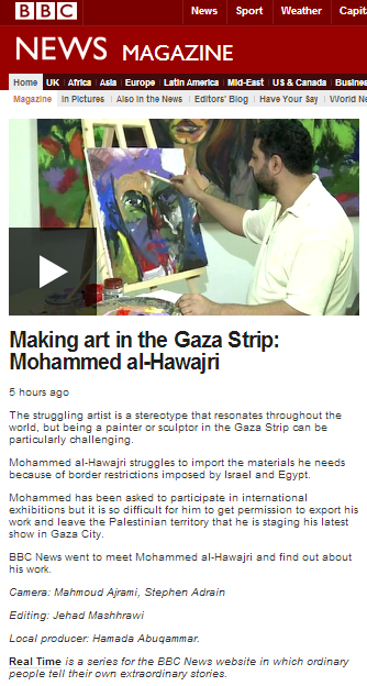 Propaganda in the guise of art from the BBC News Gaza office