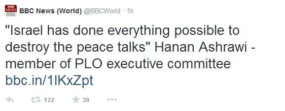 BBC News enables Hanan Ashrawi's defamatory PLO propaganda fest