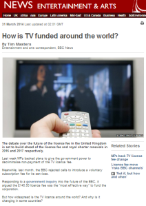 In praise of the BBC licence fee, by…the BBC