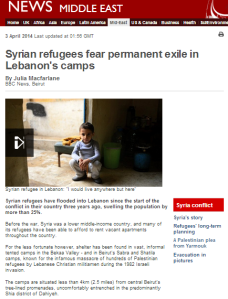 BBC misleads in article on refugees in Lebanon