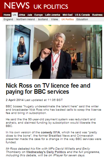Nick Ross licence fee