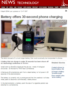 Phone battery story