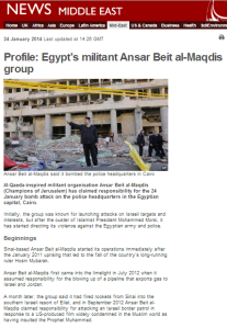 BBC's profile of Ansar Bayt al Maqdis out of date