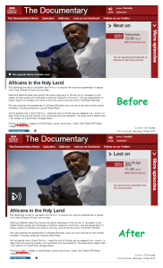 The messaging in a BBC World Service programme on Africans in Israel