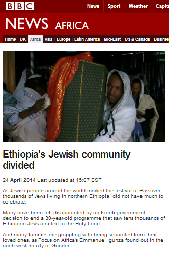 In which the BBC's Addis Ababa correspondent decides who is Jewish