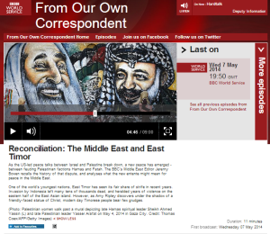 Bowen again promotes BDS in three separate BBC programmes