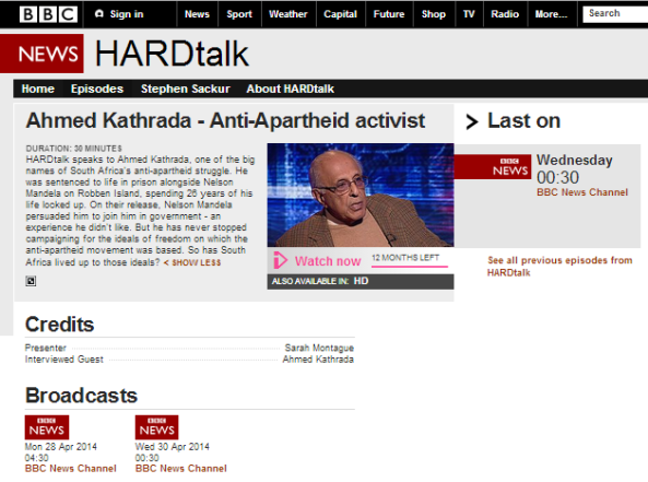 BBC's Hardtalk amplifies 'apartheid' trope, euphemises support for terror