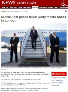 BBC still promoting selective messaging on end of Israel-PLO talks